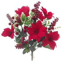 Poinsettia & Berry Bush