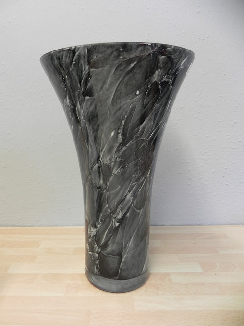 Classic Glass Vase - Black Marble