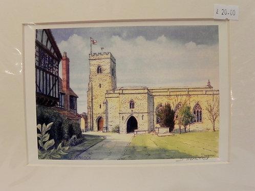 Print - Holy Trinity Church, Much Wenlock