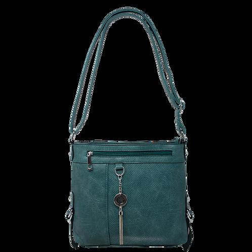 Metal Chain Drop Shoulder Bag - Green
