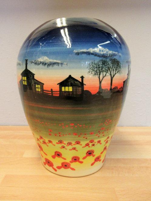 Rachel Frost Pottery Concave Vase - Sunset