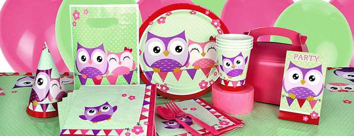 party supplies Shropshire | banners, plates, cups, napkins Shropshire