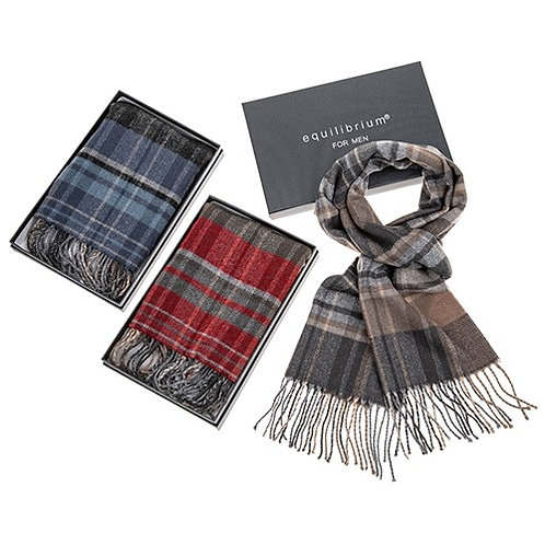 Mens Check Scarf