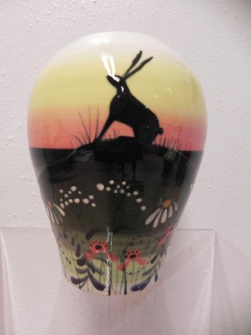 Rachel Frost Pottery Concave Vase Hare Yellow