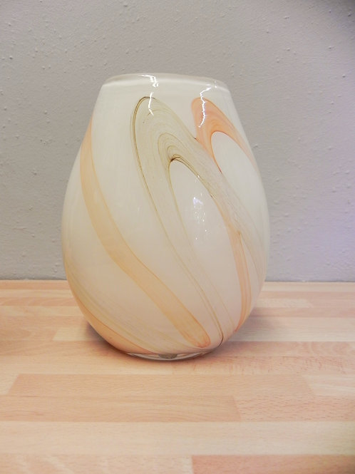 Dome Vase 20cm - Apricot Earth