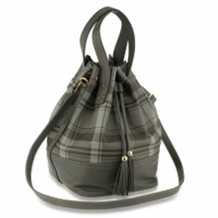 Drawstring Bucket Bag - Black