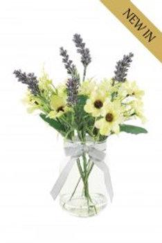 Daisy & Lavender In Jam Jar