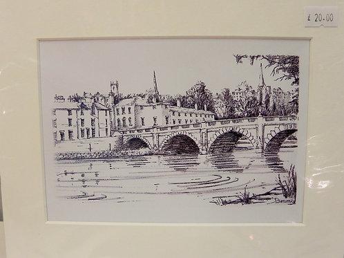 Print - English Bridge, Shrewsbury