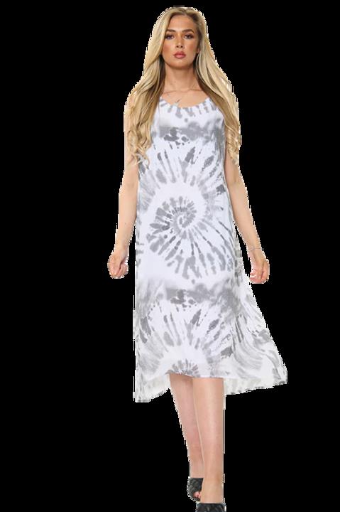 Tie Dye Swirl Print Sleeveless Dress