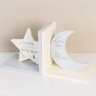 Bambino Star & Moon Shaped Bookends