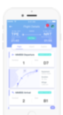 Blay App Flight Screen Travel Tool