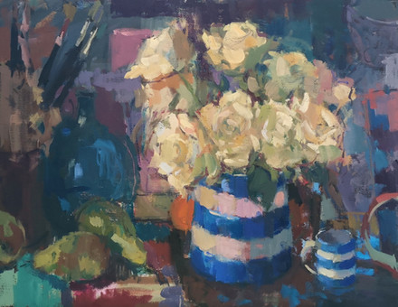 Roses, Pears and Cornishware