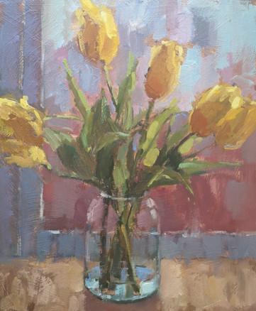 Glass Jar with Yellow Tulips.jpg