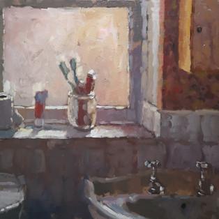 Bathroom Shelf, sold