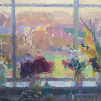 Window with Hydrangea