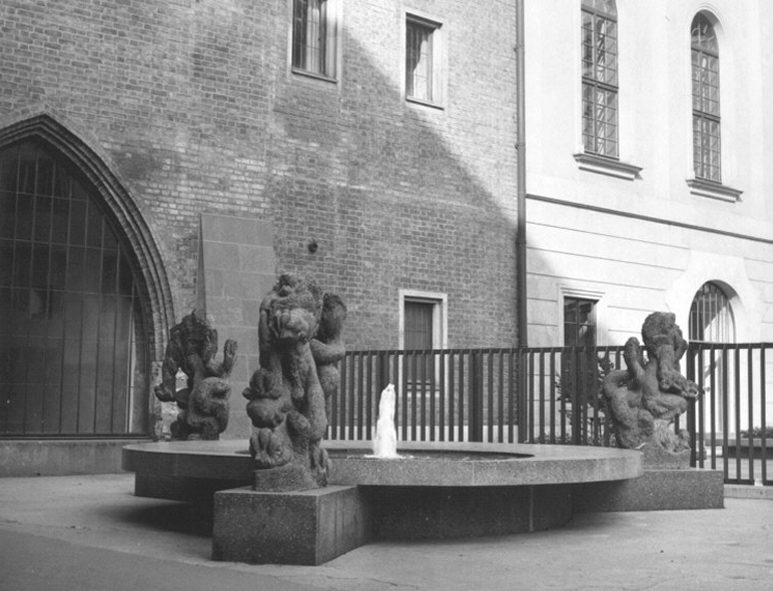 Lion Fountain at the Carolinum, 1972