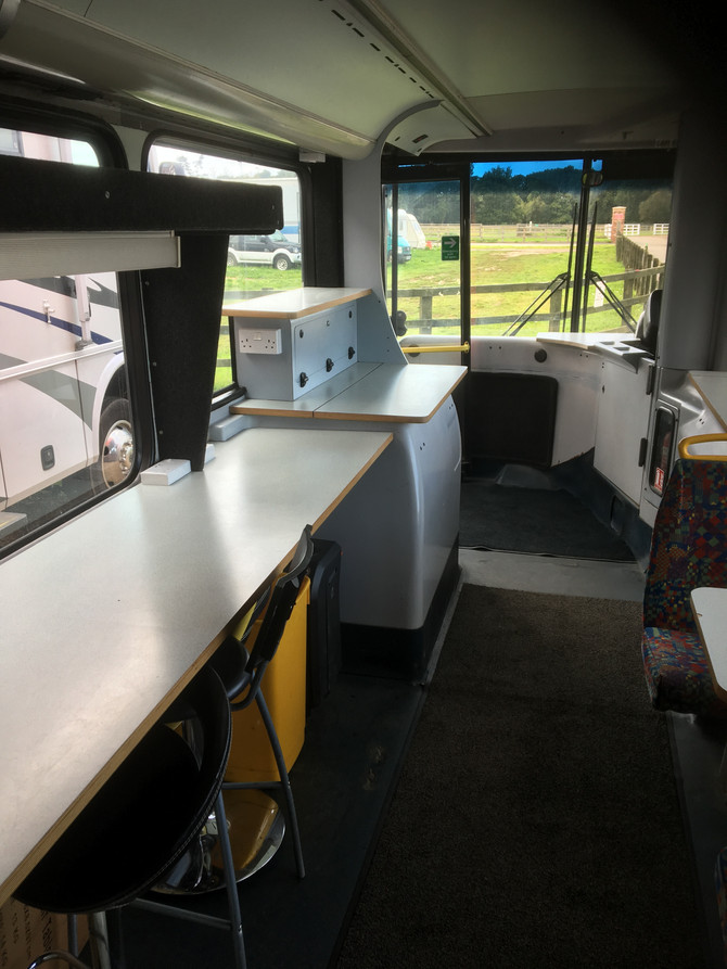 A Dining Bus and a Production Area