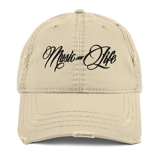 Music=Life Distressed Dad Hat