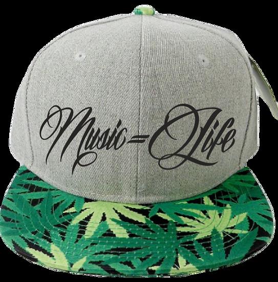 Grey & Weed Leaf Hat