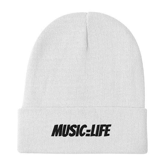 Music=Life (BL) Beanie
