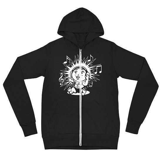 MLS (music since young) zip-up