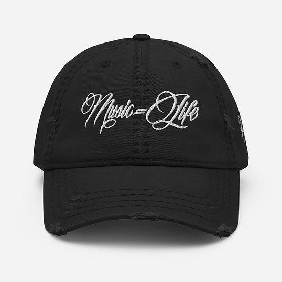 MLS Black Distressed Dad Hat
