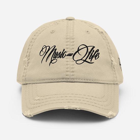 MLS Beige Distressed Dad Hat