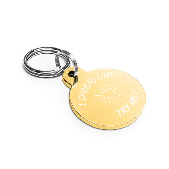 Spread love (Key Chain / Pet tag)