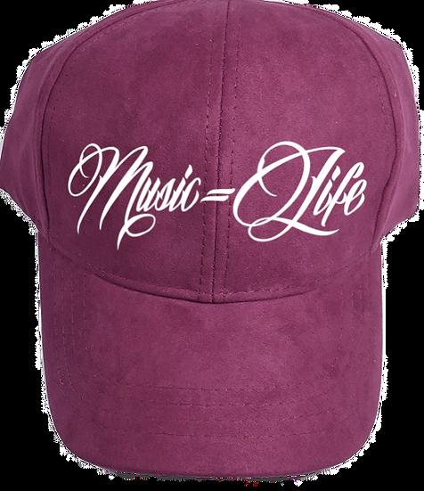 Burgundy Suede Dad Hat