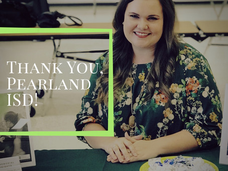 MHC Update: Thank you, Pearland ISD!