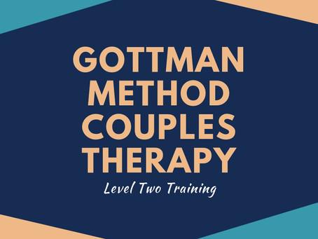 MHC Update: Gottman Method Level Two Training