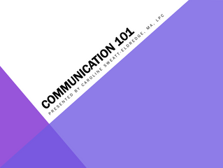 MHC Update: Communication 101