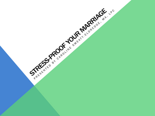 MHC Update: Stress-Proof Your Marriage