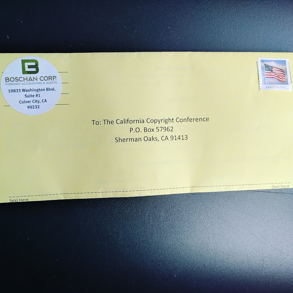 Voting in California Copyright Conference Election
