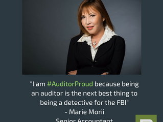 Boschan Corp. Senior Accountant Marie Morii on why she is #AuditorProud !