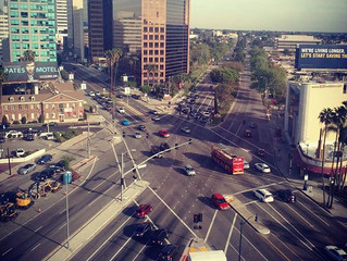 San Vicente & Wilshire: View from Boschan Corp.