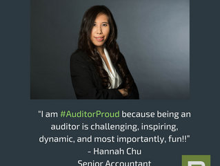 """Boschan Corp. Senior Accountant Hannah Chu on why she is #AuditorProud !⠀ ⠀ """"I am proud to be an aud"""