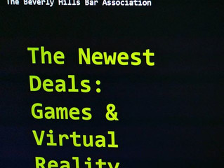 Cedar Boschan Speaks at the Beverly Hills Bar Association: The Newest Deals: Games & Virtual Rea