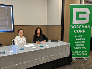 Tong Lin and Lynise Levine at the Boschan Corp. Music Industry Toolbox Table