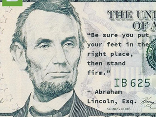 """A favorite quote from #President Abe #Lincoln: ⠀ ⠀ """"Be sure you put your feet in the right place, th"""