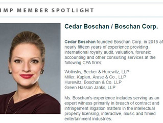 The Association of Independent Music Publishers (AIMP) Spotlights Former Treasurer Cedar Boschan, Fo