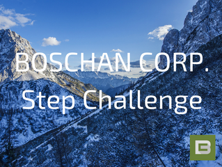 It's challenge time! Boschan Corp. team members will be racing to the top Mt. Everest via pedome