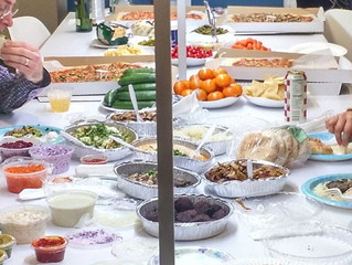 #Kosher-friendly #party at the #office (near = meat cuisine; far = dairy; scotch all around)