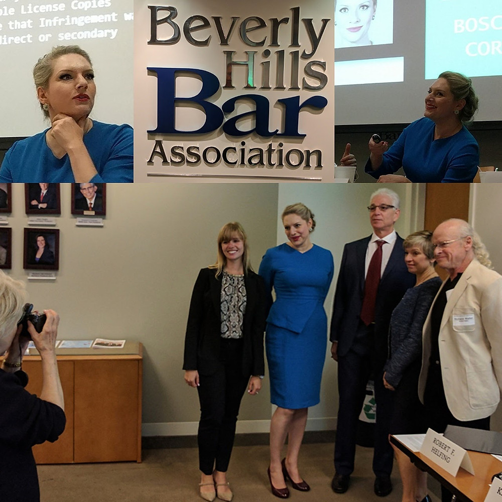 Cedar Boschan at the Beverly Hills Bar Association with Other Copyright Infringement Experts