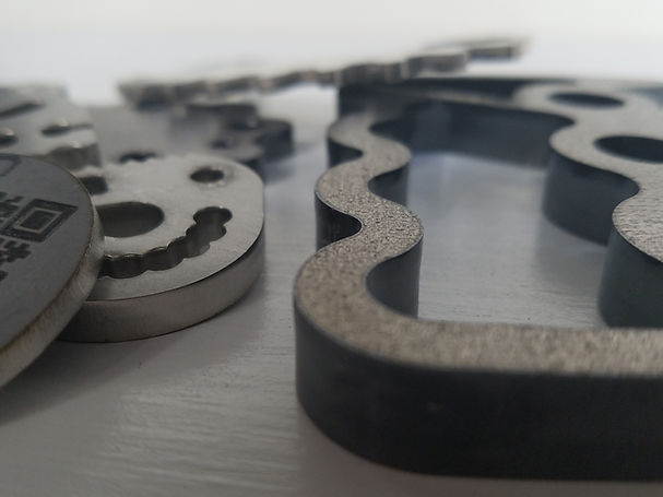 Metal cutting & etching done with direct diode lasers