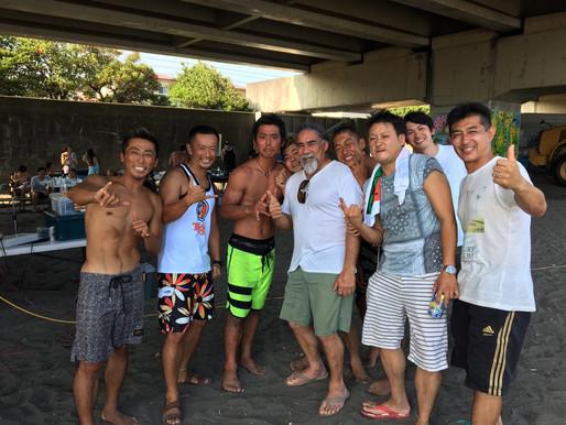 巨匠モーリスコールも参加で超盛り上がった4周年BBQPARTYと今日のサーフィンスクール