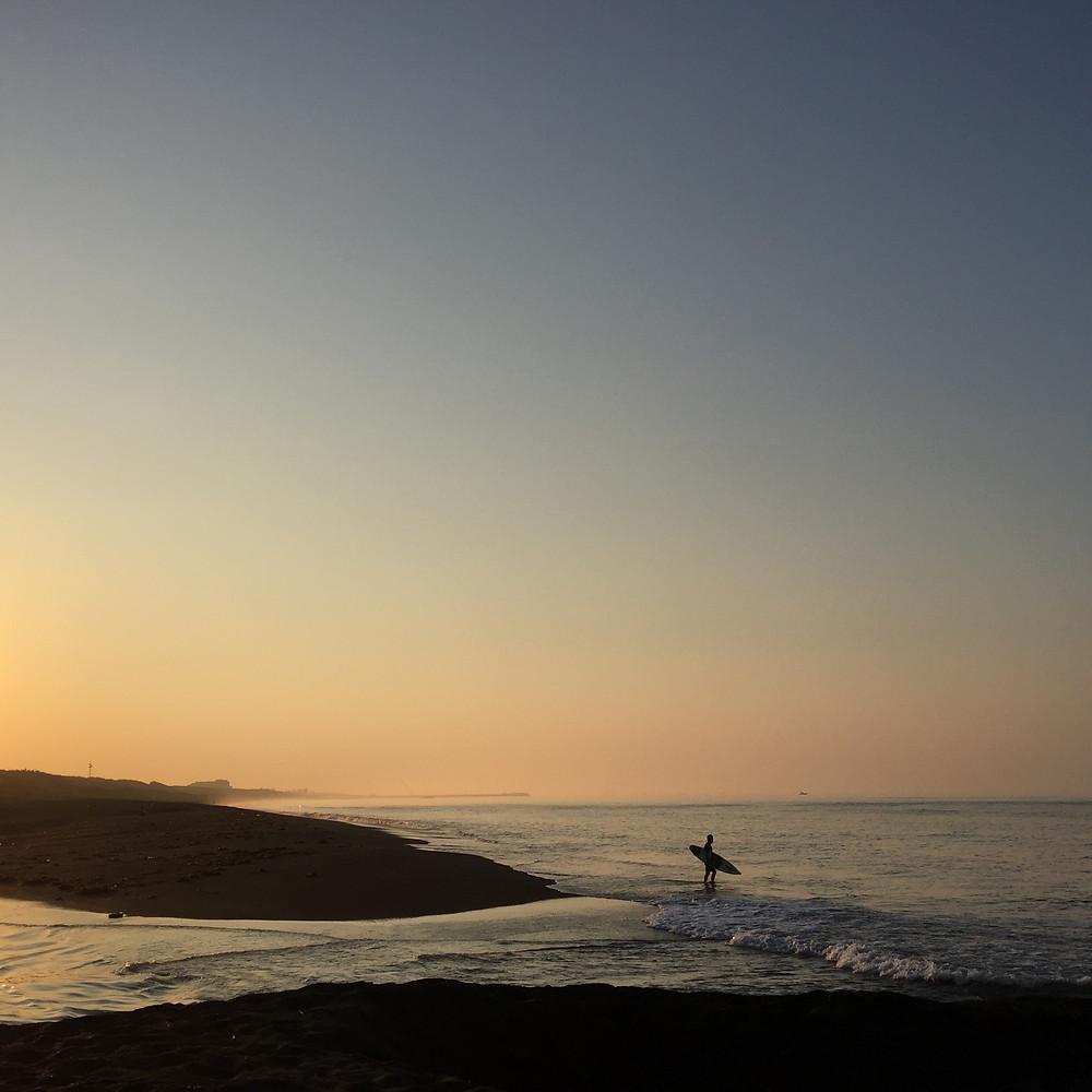 平塚海岸の朝焼け