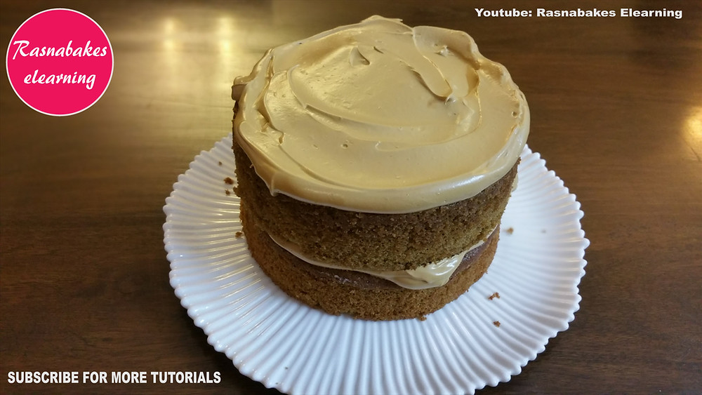 Dalgona Coffee flavored Victoria cake recipe