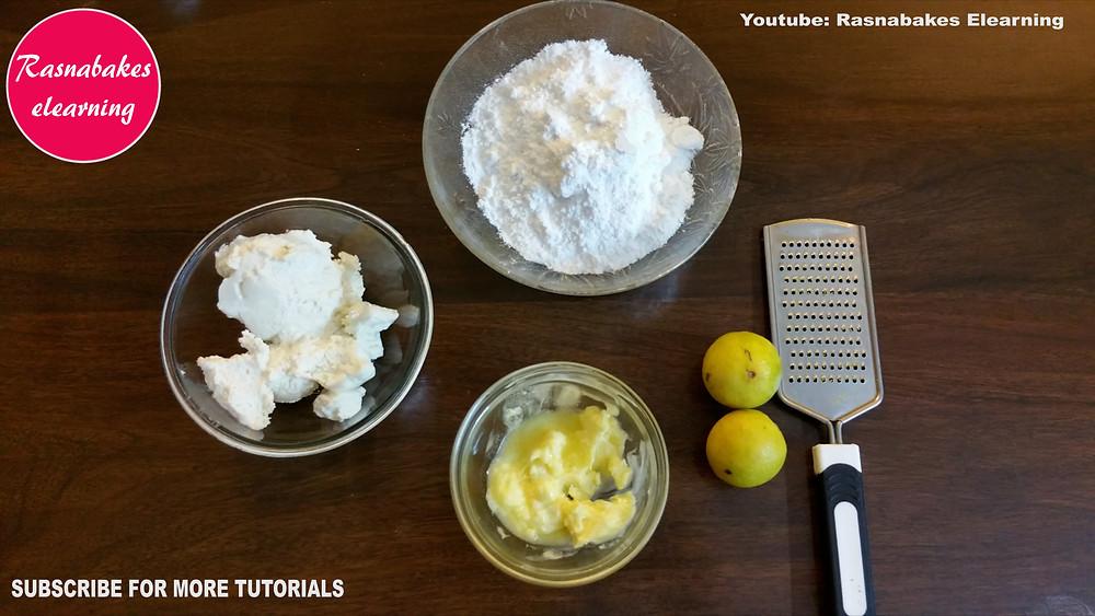 Cheese lemon cake