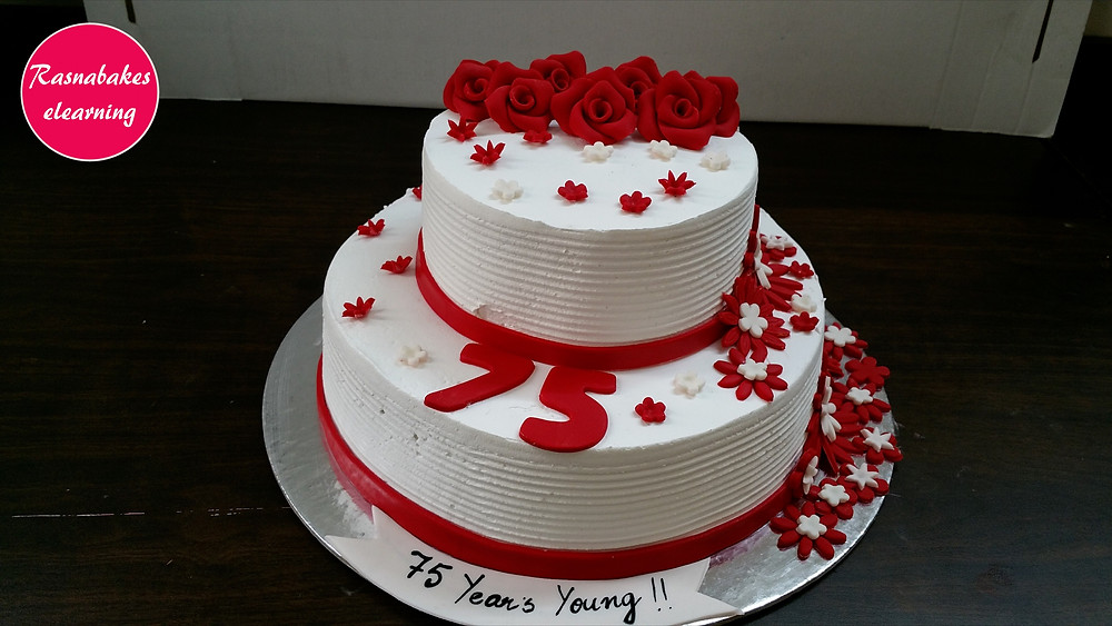 75th birthday cake design